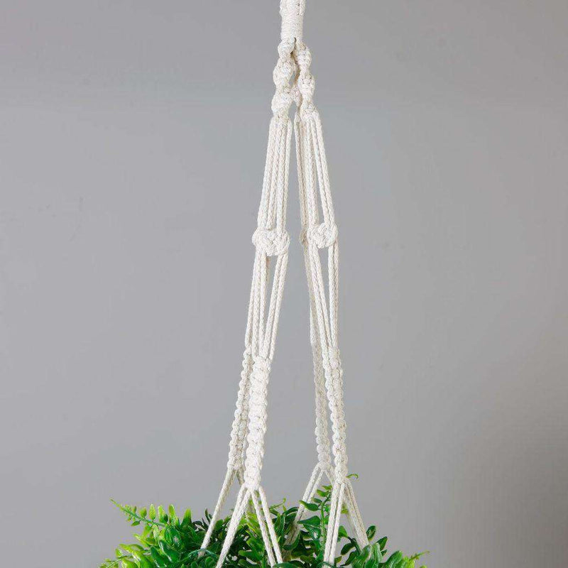 Franco Faux Potted Macrame Hanging Plant (3.8 Feet) ArtiPlanto