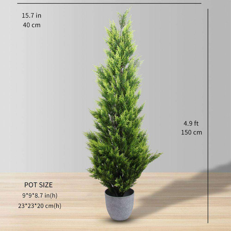 HAMPTON Faux Potted Cedar Topiary Plant (Multiple Sizes) ArtiPlanto