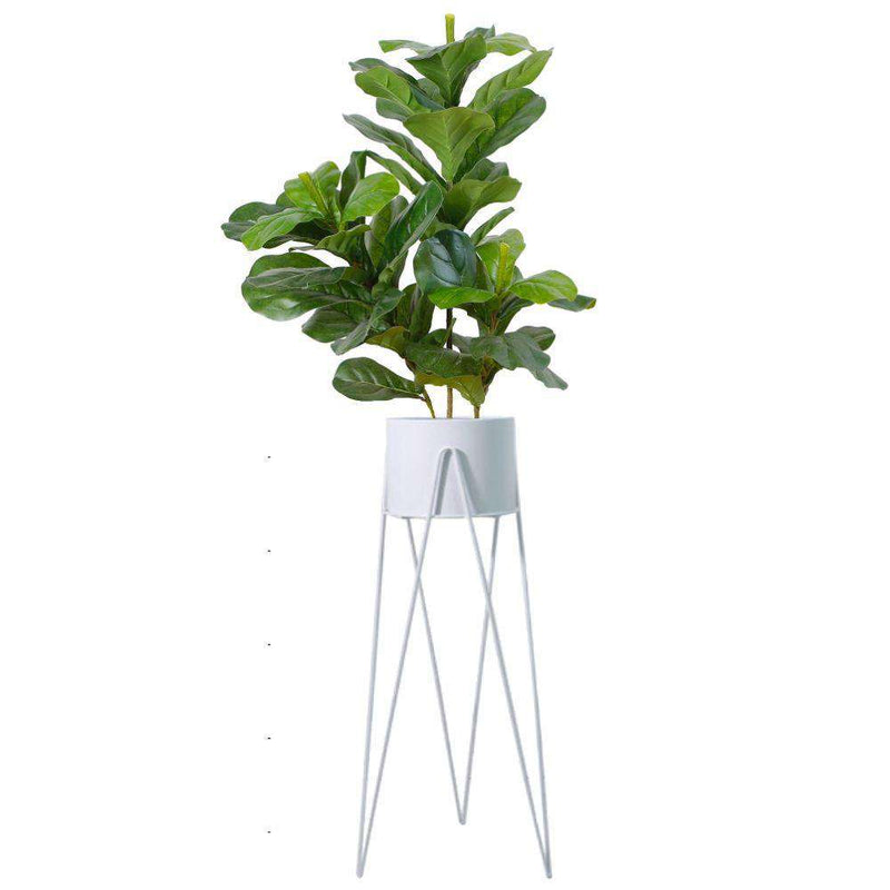 HILA WHITE PLANTER WITH HAIRPIN LEGS (91CM) ArtiPlanto
