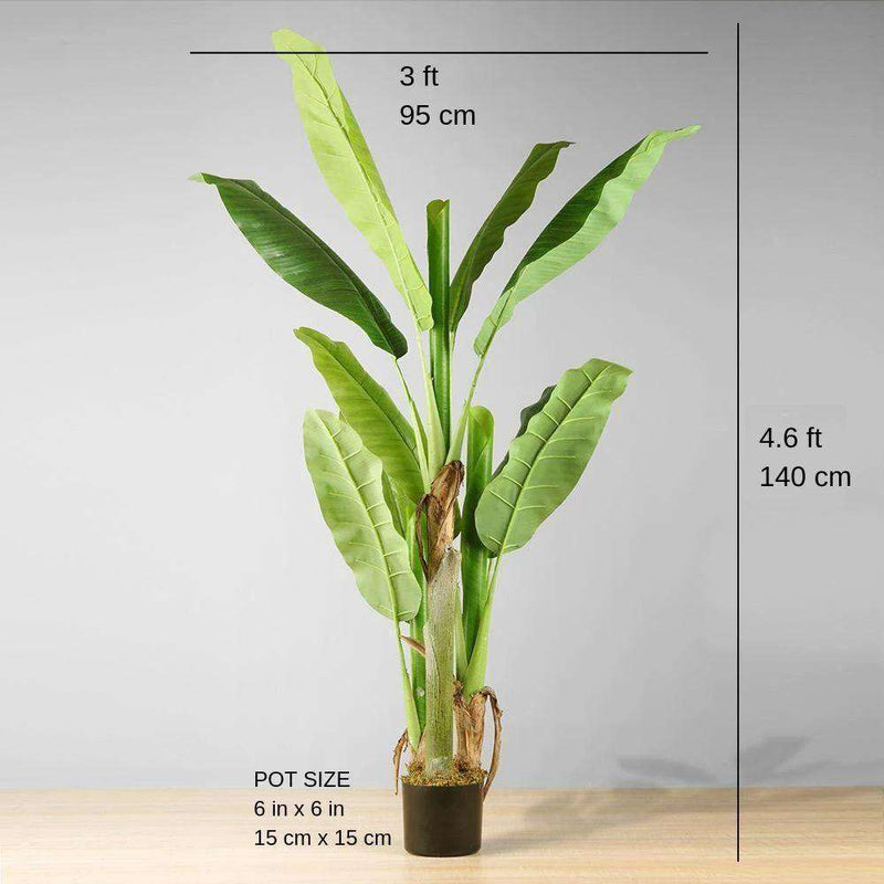 KIKI Artificial Banana Tree Potted Plant 55'' ArtiPlanto
