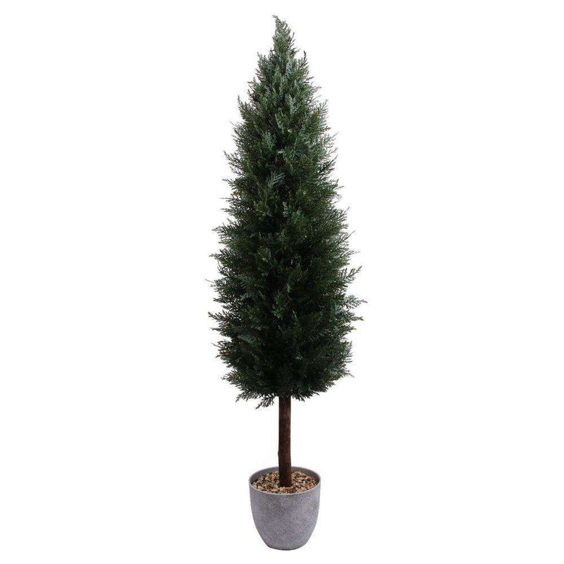 LEEDS Faux Potted Cedar Topiary Plant (Multiple Size) ArtiPlanto