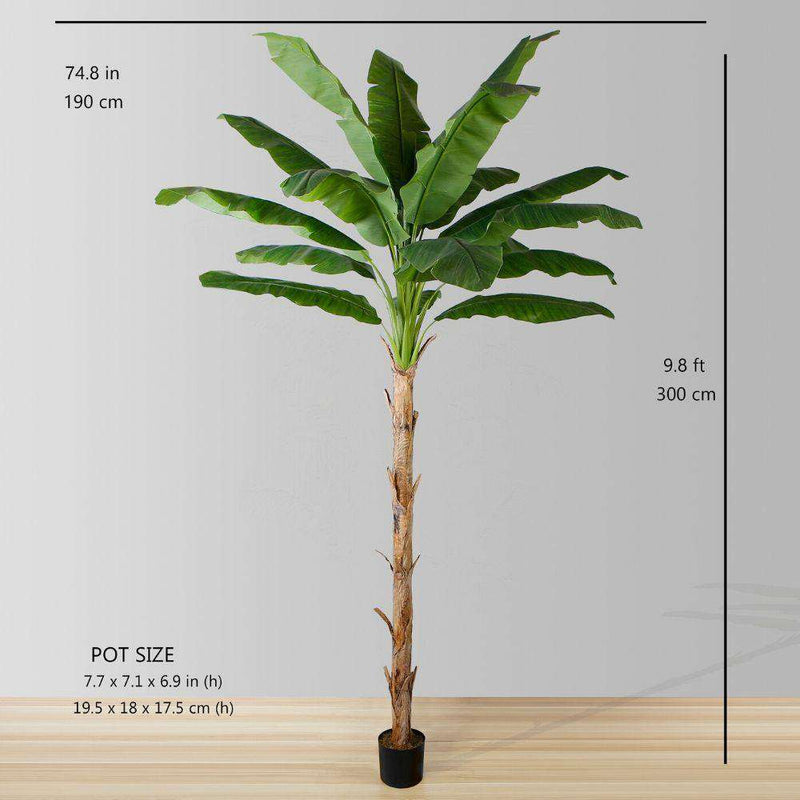 LEYA ARTIFICIAL BANANA TREE POTTED PLANT 10' ArtiPlanto