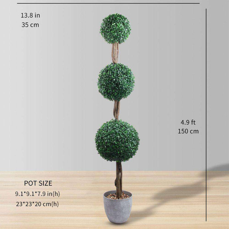 LONDON Faux Potted Boxwood Topiary Plant (Multiple Sizes) ArtiPlanto
