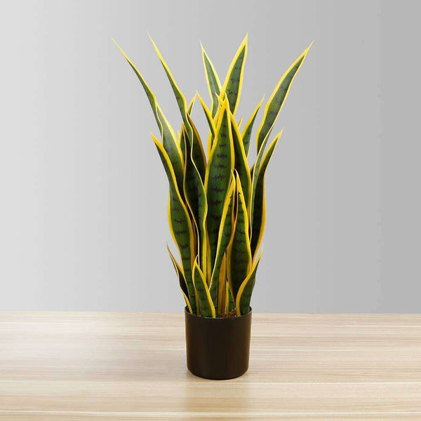 LUIS ARTIFICIAL SNAKE SANSEVIERIA YELLOW & GREEN POTTED PLANT 26'' ArtiPlanto