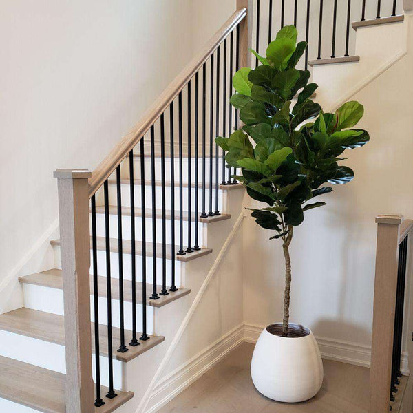 MARGO - White Bamboo Floor Planter ArtiPlanto