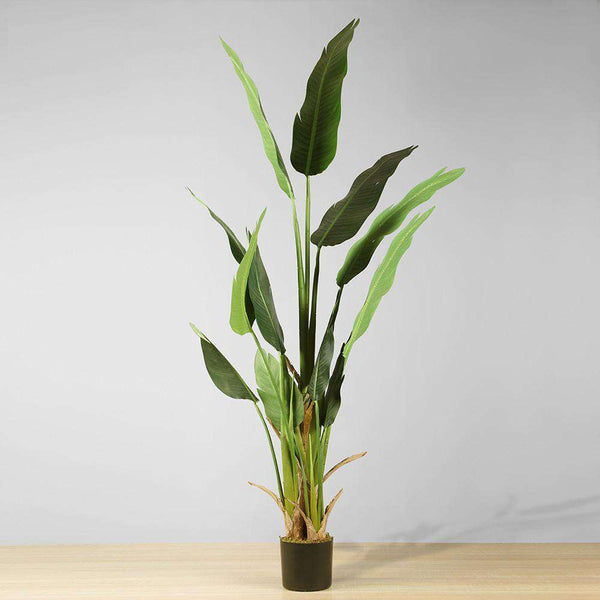 MAZA Artificial Bird Of Paradise Potted Plant (Multiple Sizes) ArtiPlanto