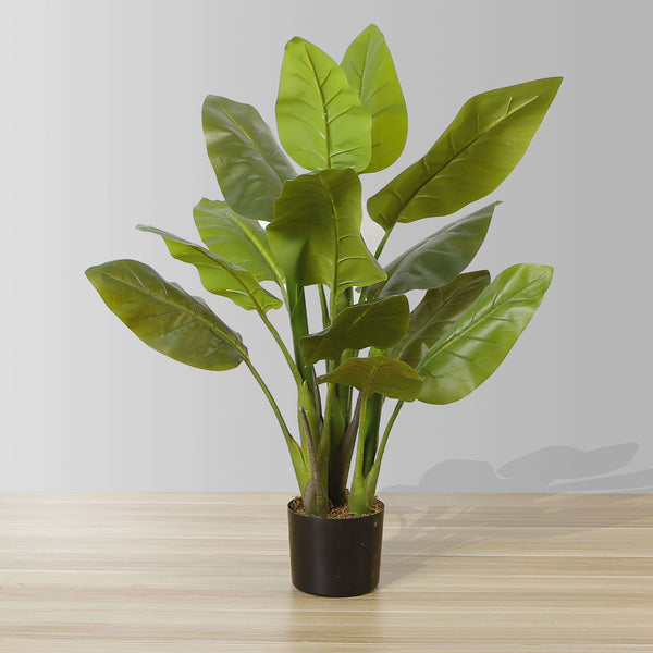 MIKI Artificial Spathiphyllum Leaf Potted Plant 3' ArtiPlanto