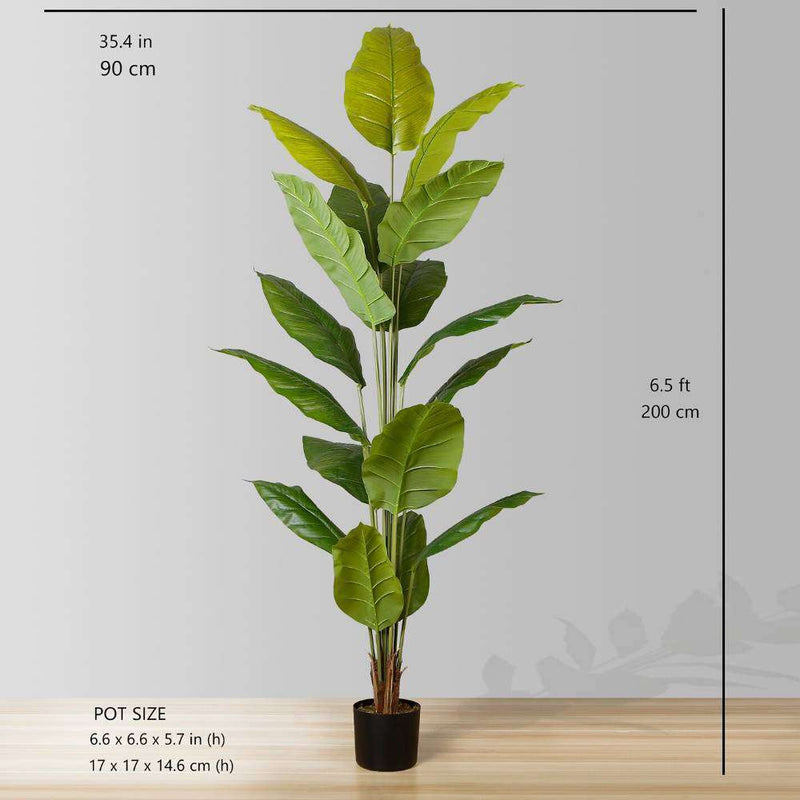 MOKA Artificial Spathiphyllum Leaf Potted Plant (Multiple Sizes) ArtiPlanto