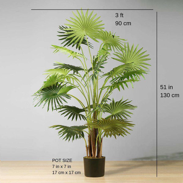 NINO Artificial Fan Palm Potted Plant 51'' ArtiPlanto