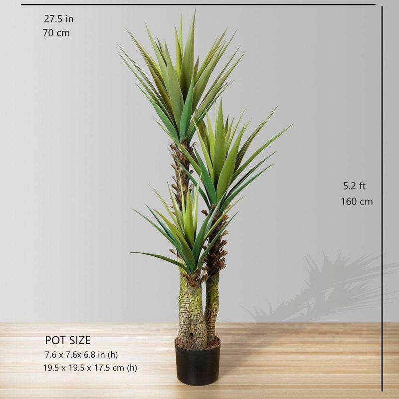 OCA Artificial Agave Potted Plant 63'' ArtiPlanto