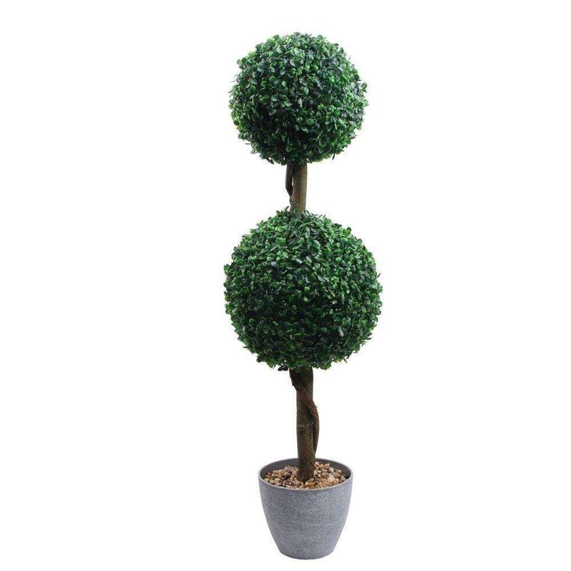 OXFORD Faux Potted Boxwood Topiary Plant 3' ArtiPlanto
