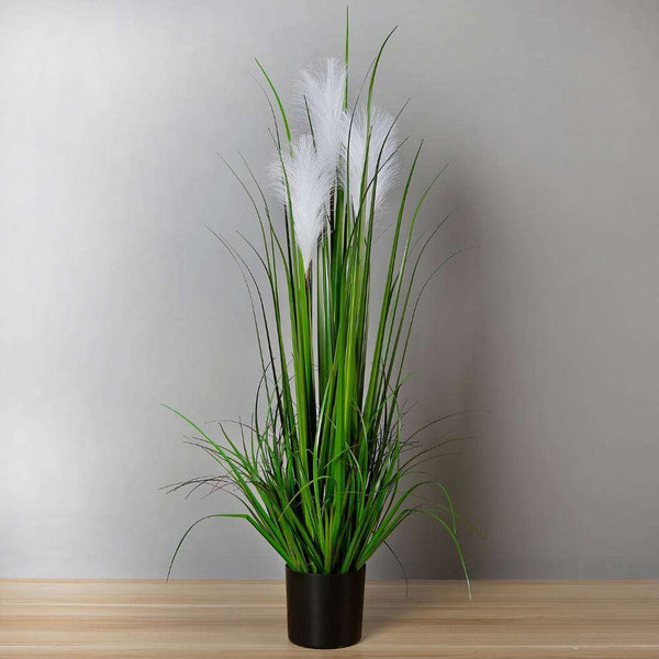 OZIE ARTIFICIAL REED GRASS POTTED PLANT 35'' ArtiPlanto