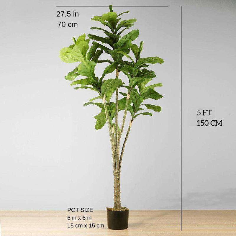 PIÑA Artificial Fiddle Leaf Potted Plant 5' ArtiPlanto