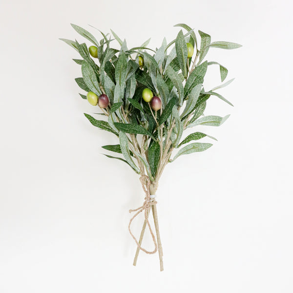 Burbank Artificial Olive Stem Bouquet 14'' x 8''(Set of 3)