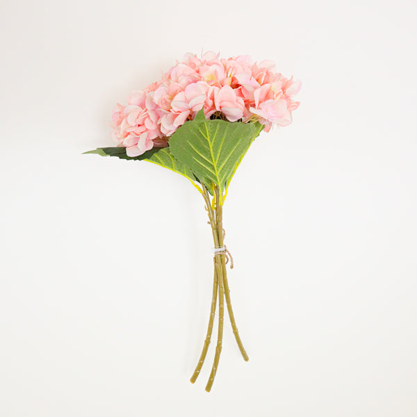 Beverly Artificial Pink Hydrangea Bouquet 18'' x 8'' (Set of 3)