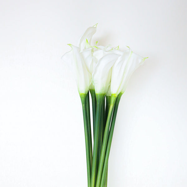 Lawi Artificial White Calla Lily Bouquet 25'' x 10'' (Set of 12)