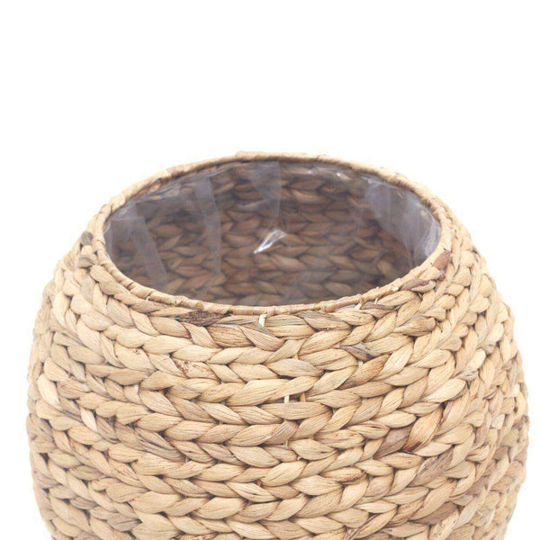 RAFA- Water Hyacinth Natural Round Floor Planter ArtiPlanto