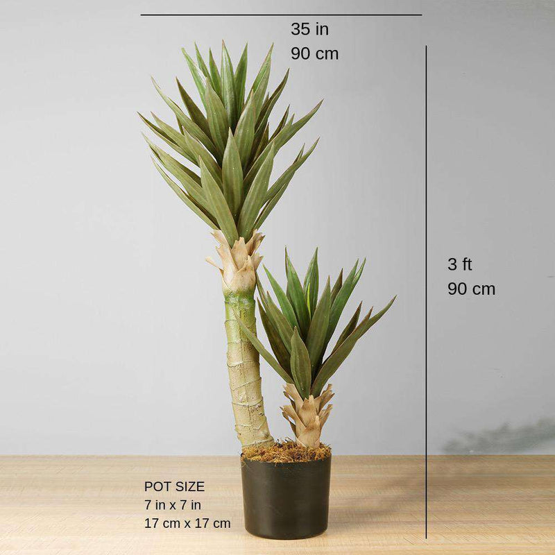 REMI Artificial Aloe Tree Potted Plant 3' ArtiPlanto
