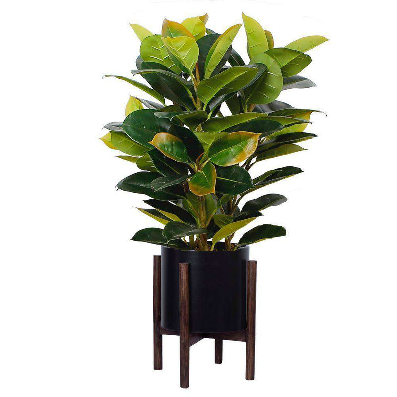 Rica - Mid-Century Modern Plant Stand With Black Planter (Multiple Sizes) ArtiPlanto