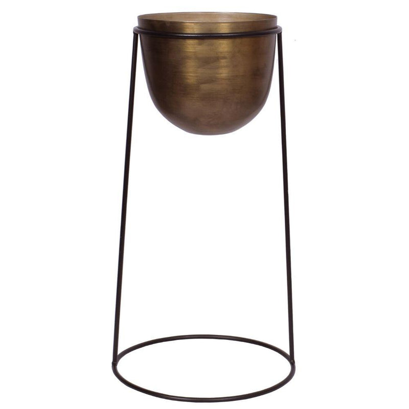 Rosita -Brass Planter On Stand ArtiPlanto