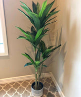 SAMY Artificial Dracaena Fragrans Potted Plant 51'' ArtiPlanto