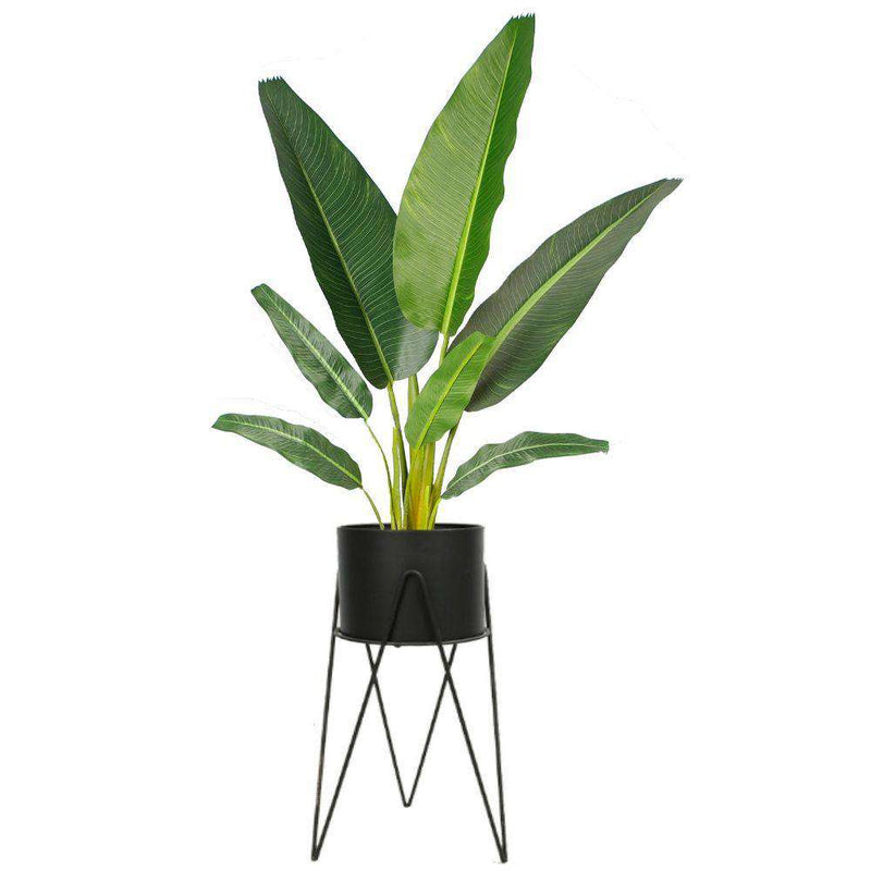 SHIRA BLACK PLANTER WITH HAIRPIN LEGS (61CM) ArtiPlanto