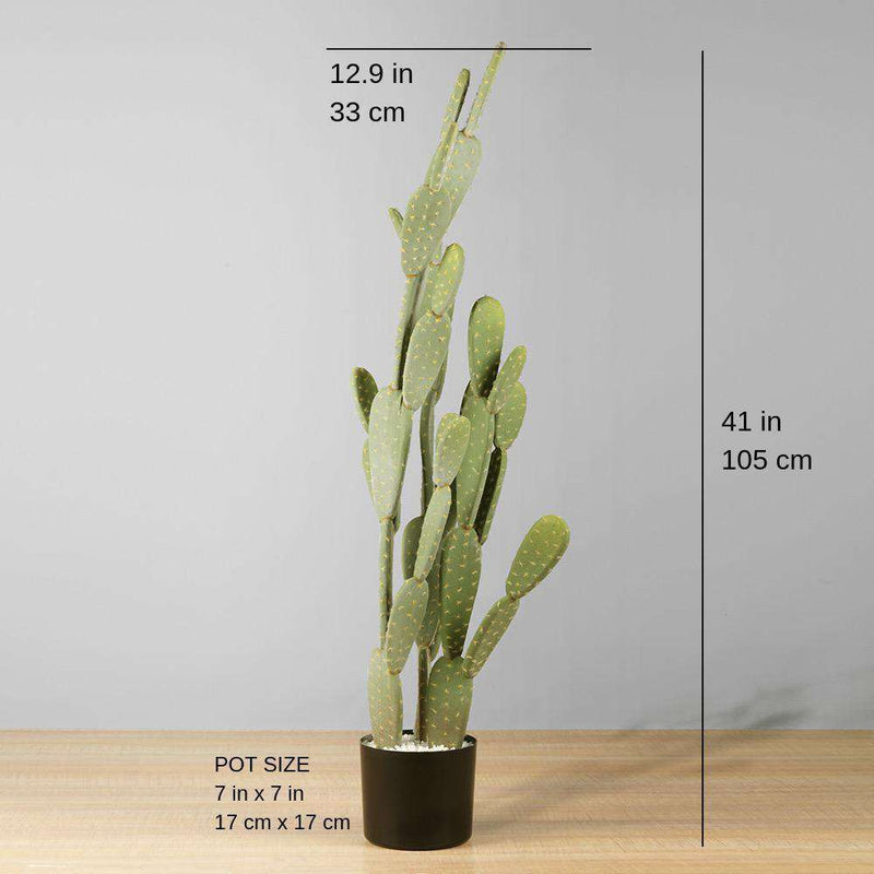 SOLO Artificial Cactus Potted Plant 41'' ArtiPlanto