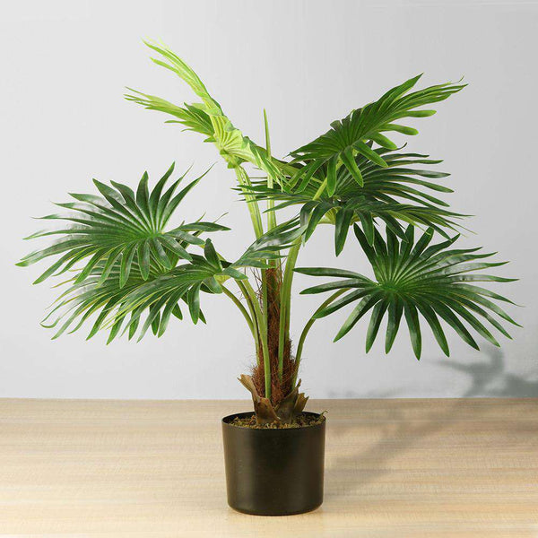 TITA Artificial Fan Palm Potted Plant 26'' ArtiPlanto