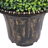 WELLS Faux Potted Spiral Boxwood Topiary Plant (Multiple Sizes) ArtiPlanto