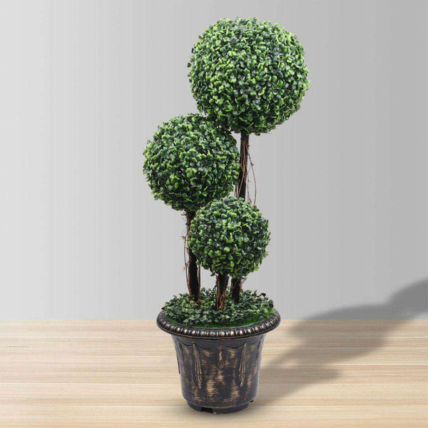 WHITBY Faux Potted Boxwood Topiary Plant (Multiple Sizes) ArtiPlanto
