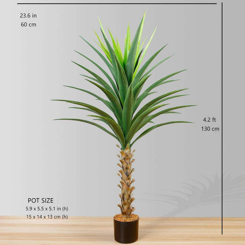 YARA ARTIFICIAL AGAVE POTTED PLANT 51'' ArtiPlanto