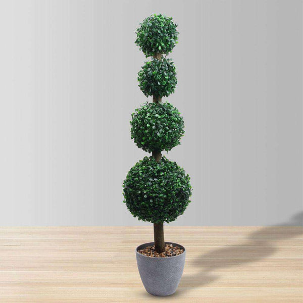 YORK Faux Potted Boxwood Topiary Plant 3' ArtiPlanto