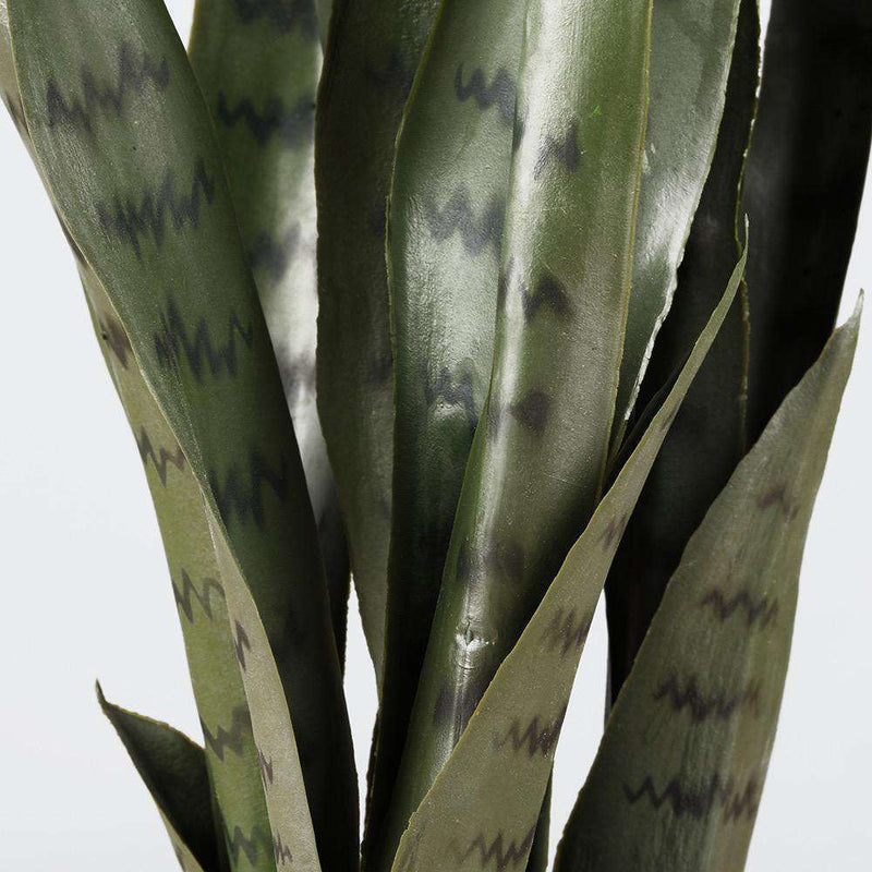 ZORO Artificial Snake Sansevieria Dark Green Potted Plant 30'' ArtiPlanto