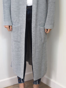 Grey Oversized Knitted Cardigan