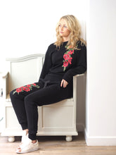 Load image into Gallery viewer, Black Rose Loungewear