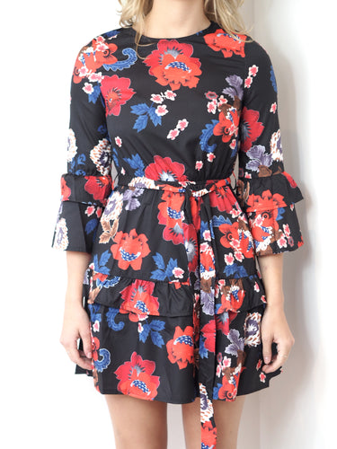 Floral Multi Frill Dress