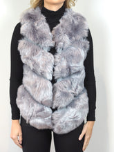 Load image into Gallery viewer, Grey Faux Fur Gilet