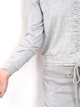 Load image into Gallery viewer, Grey Rouched Loungewear