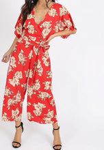 Load image into Gallery viewer, Floral Kimono Sleeve Jumpsuit