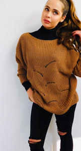 Cable Knit Ribbed Jumper
