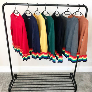 Rainbow Hemline Jumper