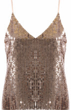 Load image into Gallery viewer, Gold Sequin Cami