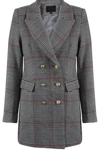 Glen Plaid Overcheck Coat