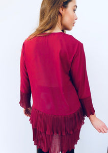 Pleated Button Blouse