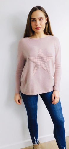 Ribbed Star Jumper