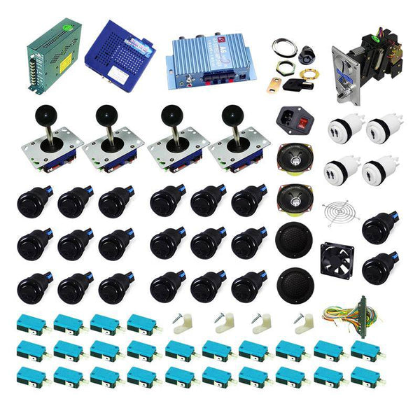 Ultimate 1162 in 1 Kit - Black/Black - DIY Arcade USA