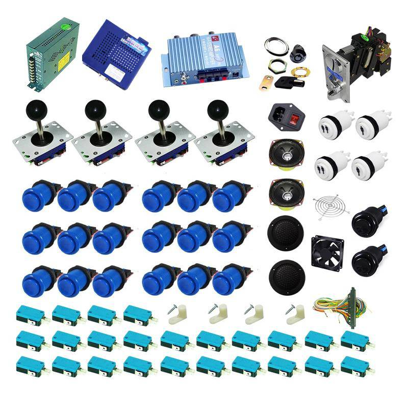 Ultimate 1162 in 1 Kit - Blue/Blue - DIY Arcade USA