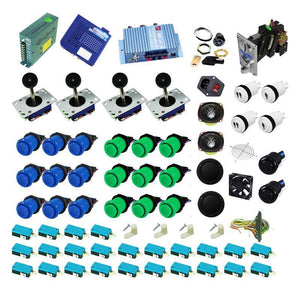 Ultimate 1162 in 1 Kit - Blue/Green - DIY Arcade USA