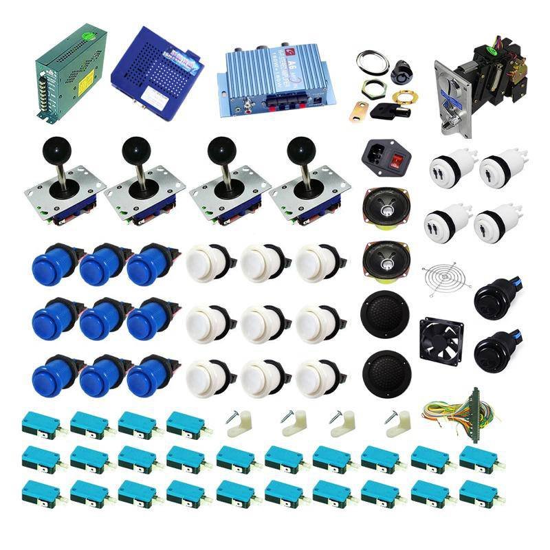 Ultimate 1162 in 1 Kit - Blue/White - DIY Arcade USA