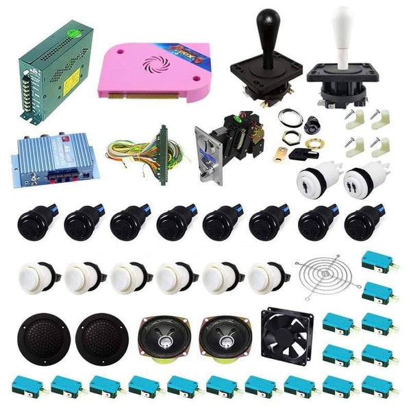 Ultimate 1300 in 1 Happ Kit - White/Black - DIY Arcade USA